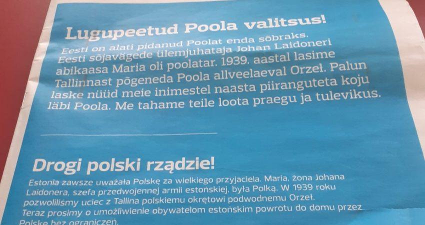 """""""Postimees"""" prosi polski rząd o umożliwienie Estończykom powrót do domu"""